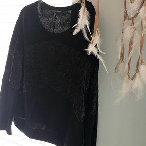 Black Victoria's Secret Sweatshirt with Sequins